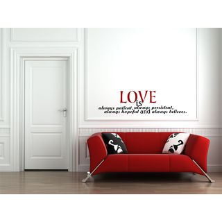Love Is... 37 Inches Wide By 10 Inches Tall Vinyl Wall Art