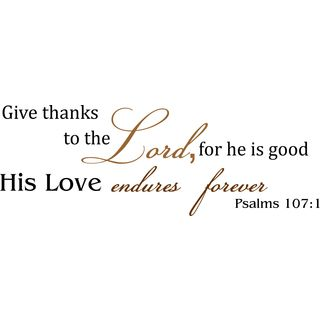 Psalms 107 Vinyl Wall Art