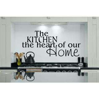 The Kitchen, The Heart of Our Home Vinyl Wall Art