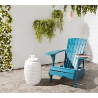 Safavieh Outdoor Living Mopani Adirondack Blue Acacia Wood Chair