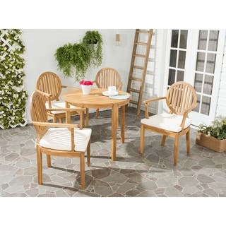 Safavieh Outdoor Living Chino Brown Acacia Wood 5-piece Beige Cushion Dining Set|https://ak1.ostkcdn.com/images/products/9126342/P16309810.jpg?impolicy=medium