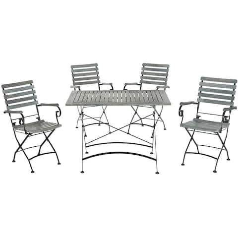 Safavieh Outdoor Living Lawndale Ash Grey Acacia Wood 5-piece Dining Set
