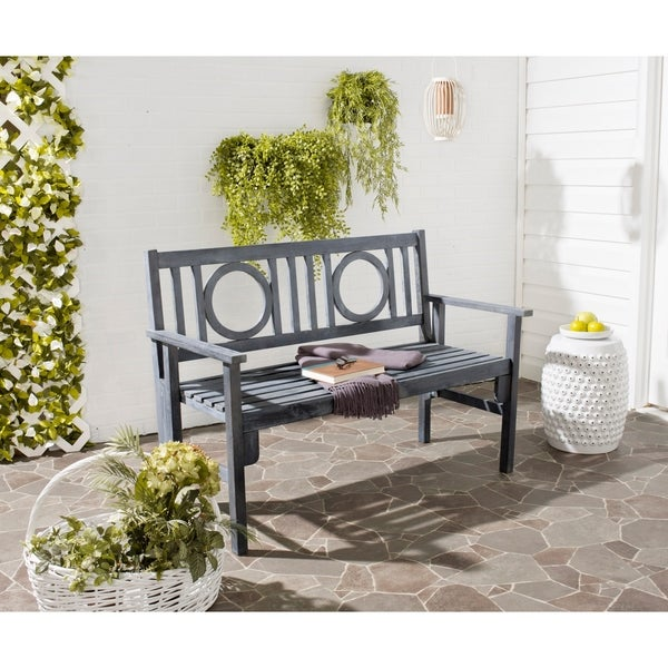 Shop Safavieh Outdoor Living Piedmont Ash Grey Acacia Wood ... on Outdoor Living Shop id=26610