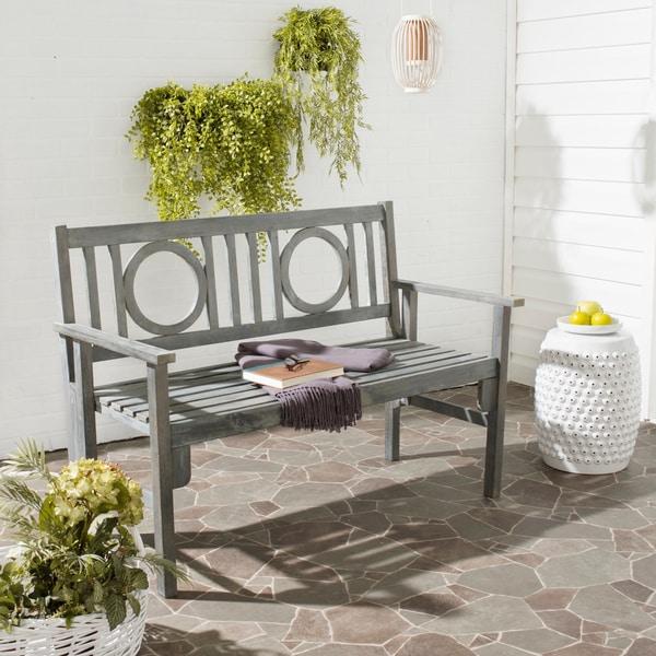 Shop Safavieh Outdoor Living Piedmont Ash Grey Acacia Wood