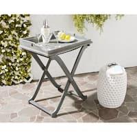 Safavieh Outdoor Living Covina Ash Grey Acacia Wood Folding Tray Table