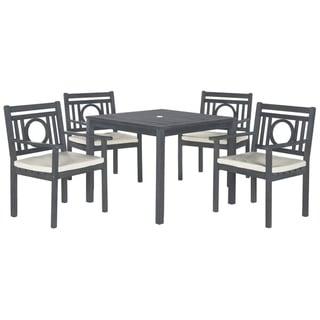 Safavieh Outdoor Living Montclair Ash Grey Acacia Wood 5-piece Beige Cushion Dining Set
