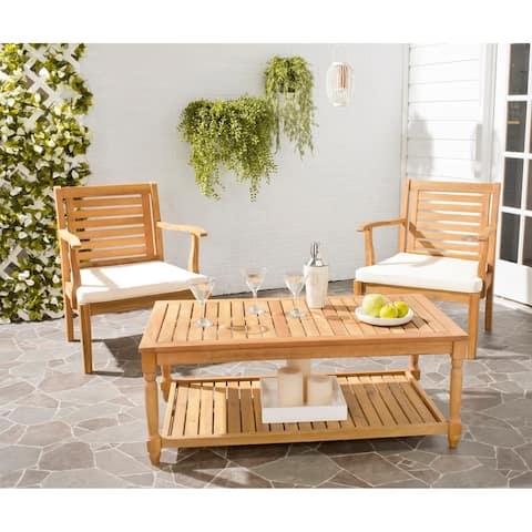 "Safavieh Outdoor Living Oakley Brown Acacia Wood Coffee Table - 43.3"" x 23.6"" x 16.5"""
