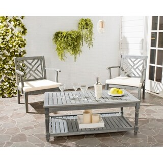 Safavieh Outdoor Living Oakley Ash Grey Acacia Wood Coffee Table