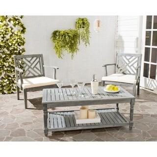 "Safavieh Outdoor Living Oakley Ash Grey Acacia Wood Coffee Table - 43.3"" x 23.6"" x 16.5"""