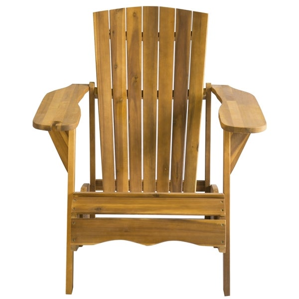 Safavieh Outdoor Living Vista Brown Acacia Wood Adirondack Chair   Free  Shipping Today   Overstock.com   16309834