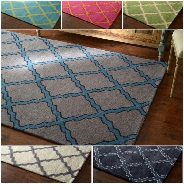 NuLOOM Hand-tufted Trellis Wool Rug (5' X 8')