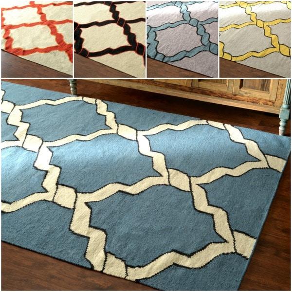 nuLOOM Flatweave Lattice Wool Rug (8' 6x 11' 6) - 8' 6x 11' 6