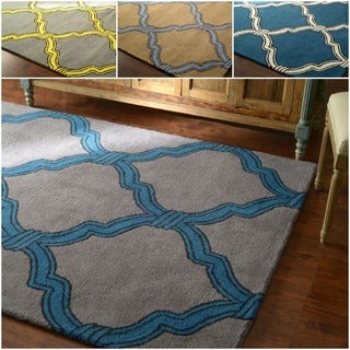 nuLOOM Hand-tufted Lattice Wool Rug (7' 6x 9' 6)