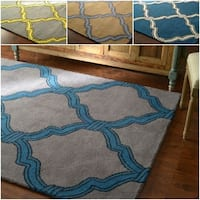 nuLOOM Hand-tufted Lattice Wool Rug (7' 6x 9' 6) - 7'6 x 9'6