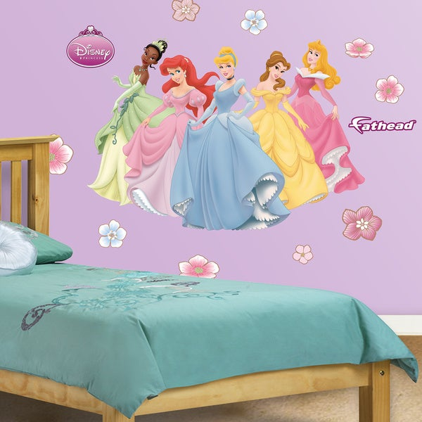 Fathead jr disney princesses wall decals free shipping for Barbie princess giant wall mural