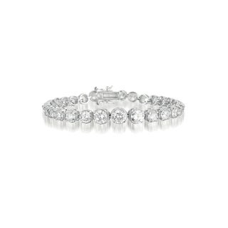 Collette Z Sterling Silver Cubic Zirconia Graduated Style Tennis Bracelet