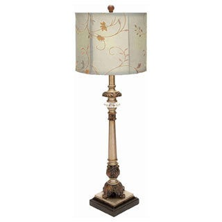 Metal/ Floral Shade Buffet Lamp