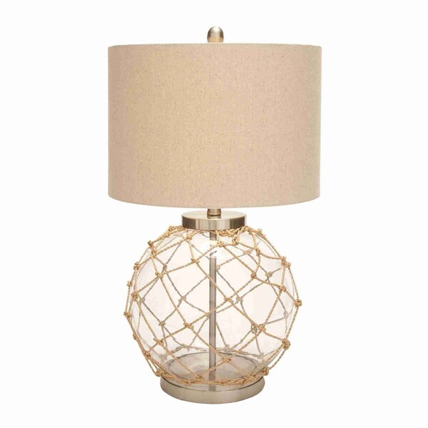 Knotted net round glass table lamp free shipping today overstock knotted net round glass table lamp aloadofball Image collections