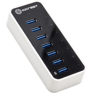 SYBA Multimedia Super Speed IO Crest 7-Port USB 3.0 Hub with AC Power