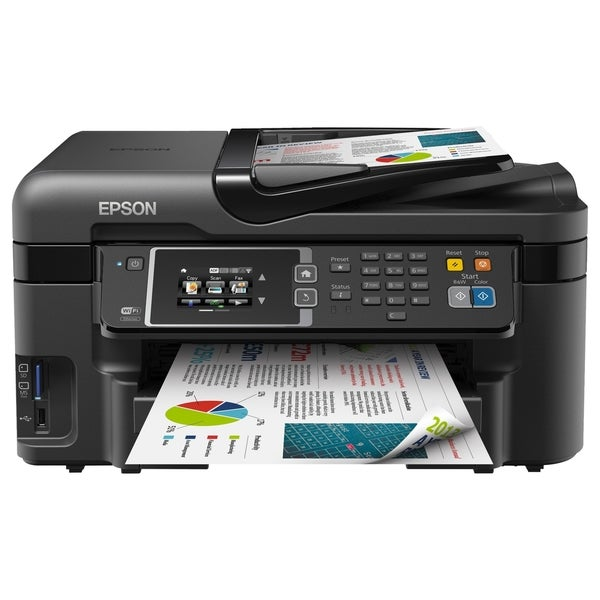 Epson WorkForce WF-3620 Inkjet Multifunction Printer - Color - Photo