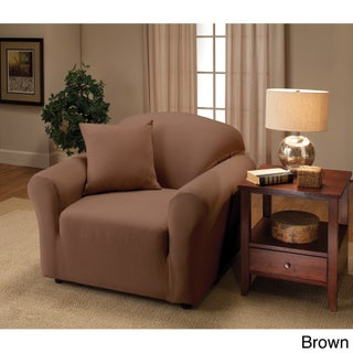 Stretch Jersey Chair Slipcover (Option: Brown)