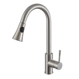 Sumerain Contemporary High-arc Stainless Pull-down Kitchen Faucet and Multi-Function Sprayer