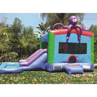 Link to JumpOrange Inflatable PVC Vinyl Bounce House with Blower Similar Items in Outdoor Play