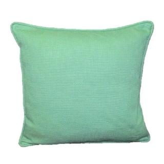 Corona Decor French Woven Teal Decorative Throw Pillow