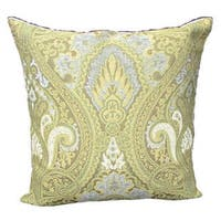 Corona Decor French Woven Goldtone Victorian Cotton and Wool Design Pillow