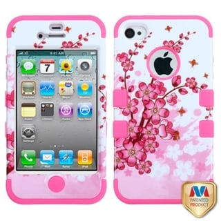 INSTEN High Impact Dual Layer Hybrid Phone Case Cover for Apple iPhone 4/ 4s