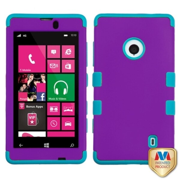 INSTEN High Impact Dual Layer Hybrid Phone Case Cover for Nokia Lumia 521