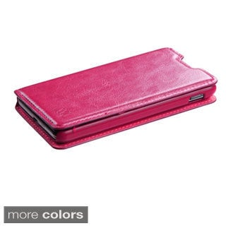 INSTEN Card Slots Colorful Book-style Leather Phone Case Cover for LG Optimus F6 D500/ MS500
