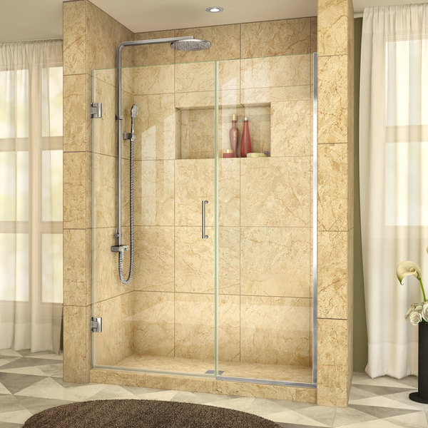 DreamLine Unidoor Plus 55 - 56 in. W x 72 in. H Hinged Shower Door