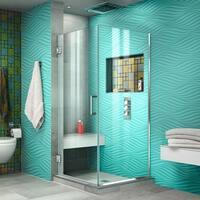 DreamLine Unidoor Plus 30-3/8 in. W x 30 in. D x 72 in. H Hinged Shower Enclosure