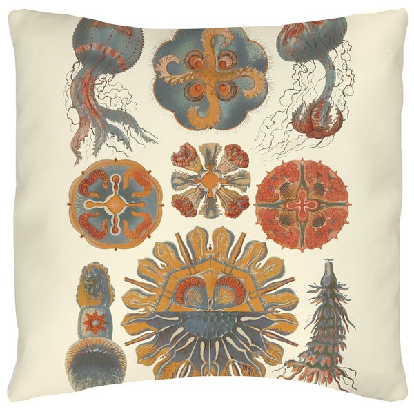 Manual Woodworkers Sophisticated Sealife IV 19-inch Throw Pillow