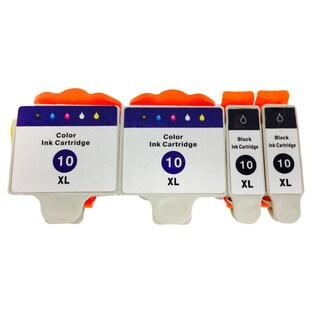 KODAK 10 Color Set EASYSHARE 5000 3200 5200 7200 9200 ESP 3 5 7 9 ESP Office 6100 Ink Cartridge (Pack of 4)