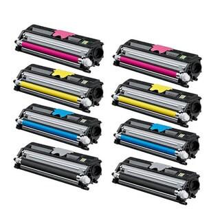 Compatible Color Set Toner Cartridge for Konica Minolta Magicolor 1600W/ 1650EN/ 1680MF/ 1690MF (Pack of 8)