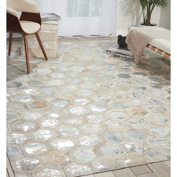 Michael amini city chic snow area rug by nourison 5 39 3 x 7 for City chic bedding home goods