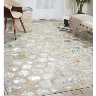 Michael Amini City Chic Snow Area Rug by Nourison (5'3 x 7'5)