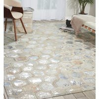 Michael Amini City Chic Snow Area Rug by Nourison - 5'3 x 7'5