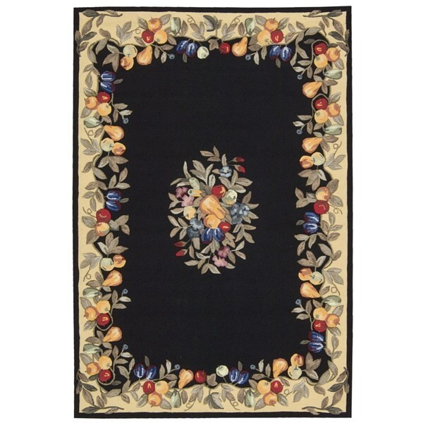 Nourison Everywhere Black Accent Fruit Rug
