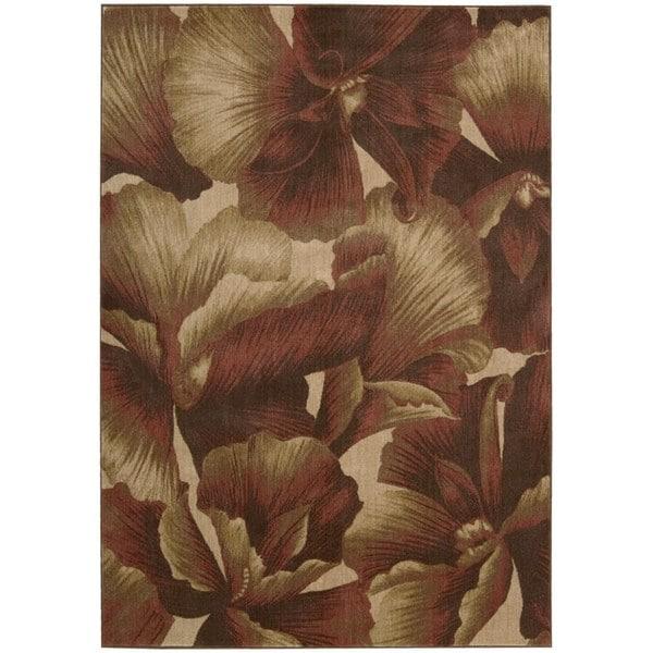 Nourison Somerset Floral Multicolor Rug - 5'6 x 7'5