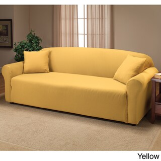 Stretch Sofa Slipcover (Option: Yellow)