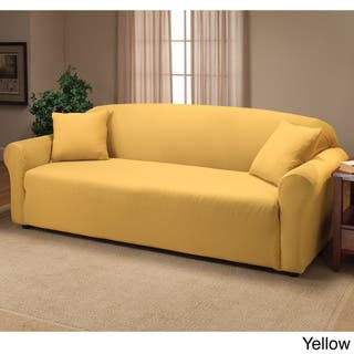 Yellow Spandex Sofa Couch Slipcovers