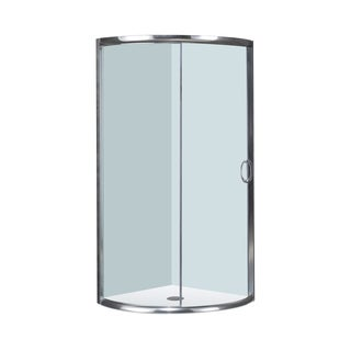 Aston 40-in x 40-in Semi-Frameless Round Bypass Shower Enclosure in Chrome