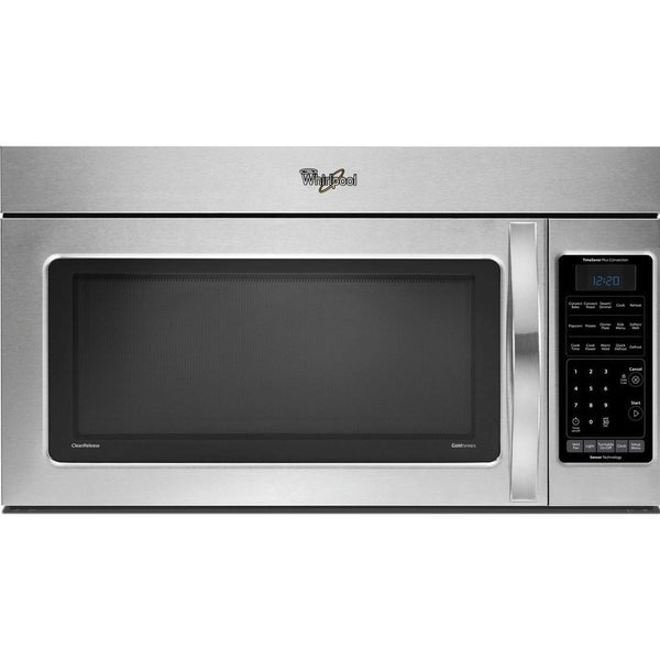 Shop Whirlpool 1 8 Cubic Foot Stainless Steel Over The