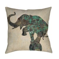 Having a Ball Elephant Throw Pillow or Floor Pillow