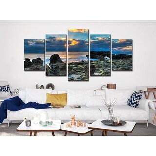 Bruce Bain 'Sun Rise' 5-piece Canvas Wall Art