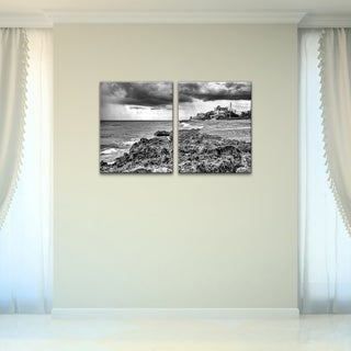 Bruce Bain 'Beach Front' 2-piece Canvas Wall Art