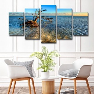 Bruce Bain 'Ocean View' 5-piece Canvas Wall Art